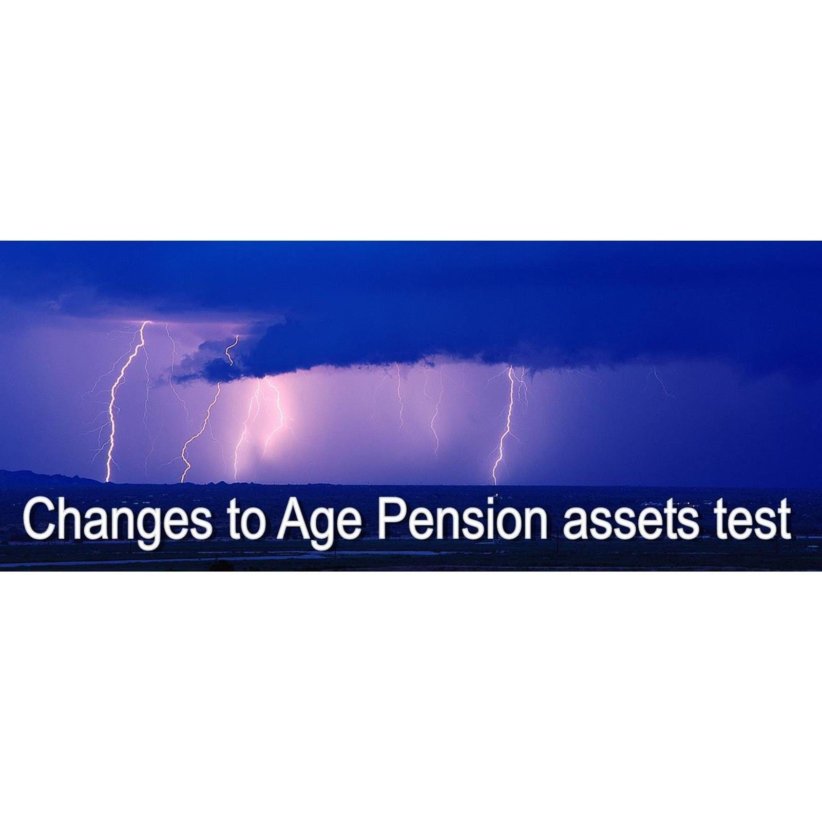 Changes to Age Pension Assets Test