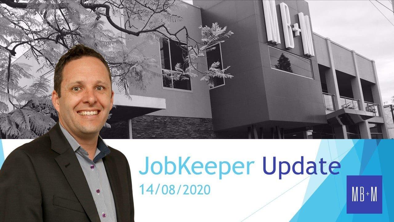 JobKeeper Update – 14 Aug 2020