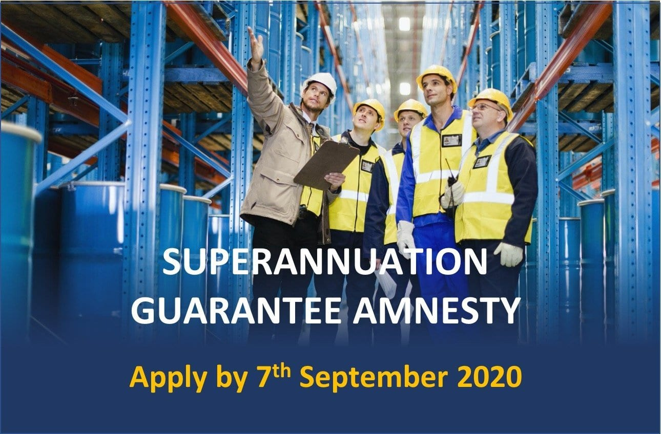 Super Guarantee Amnesty  Ends On 7 September!