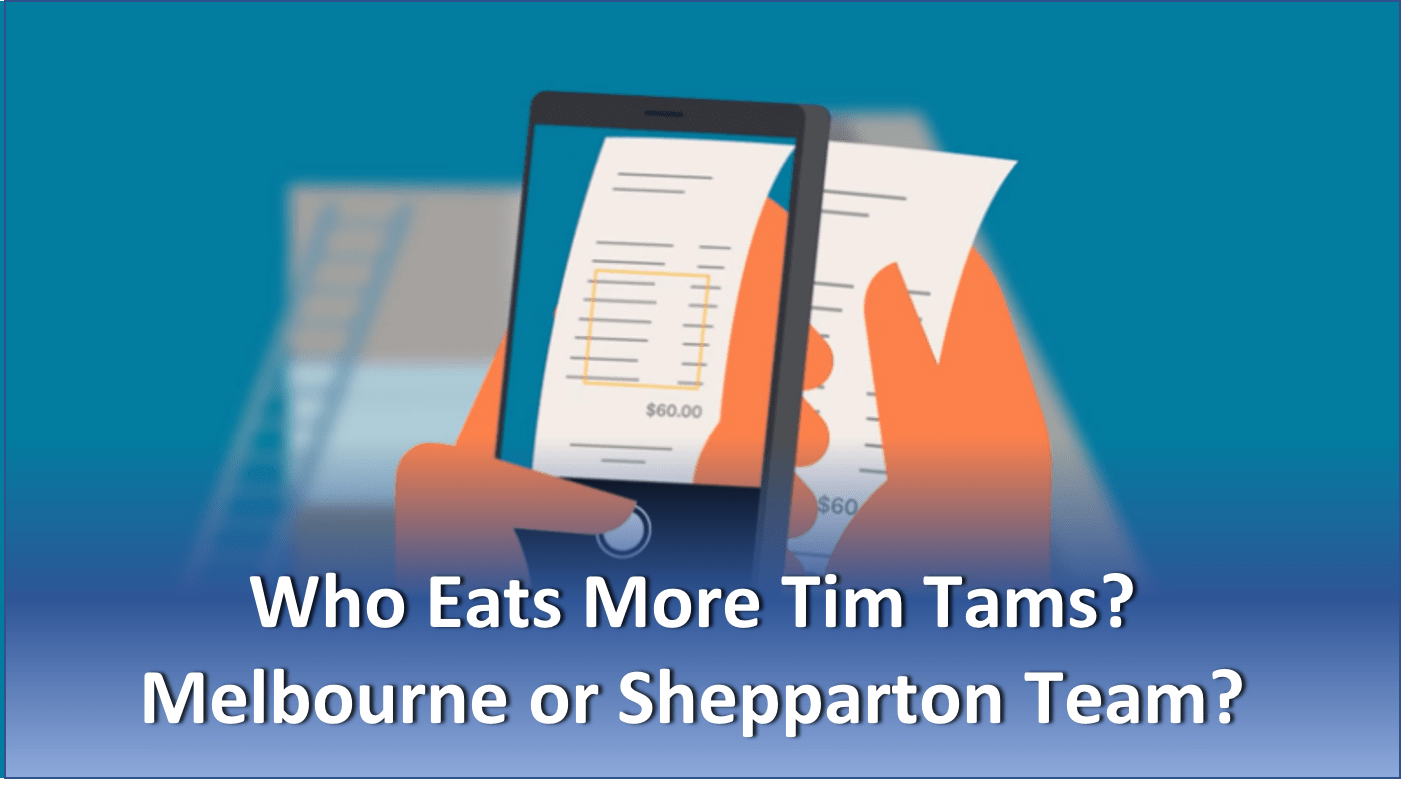 Who Eats More Tim Tams –  Melbourne or Shepparton Team?